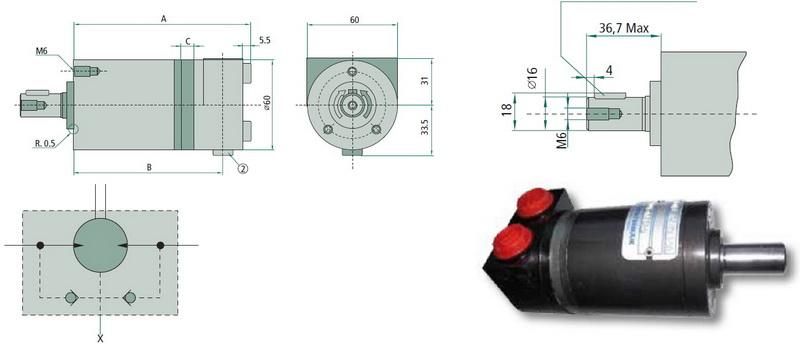 Silnik hydrauliczny Bravini.
